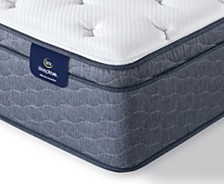 "Serta Sleeptrue Alverson II 13"" Plush Euro Top Mattress- Twin"