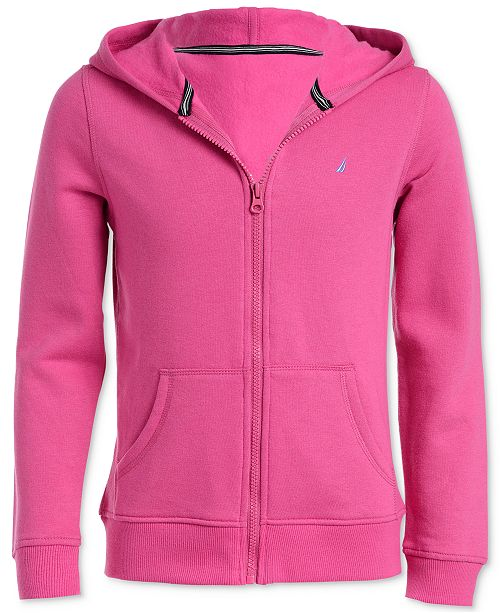 Nautica Big Girls Zip-Up Fleece Hoodie