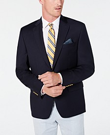 Men's Classic-Fit UltraFlex Stretch Navy Solid Blazer