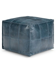 Manning Square Pouf, Quick Ship