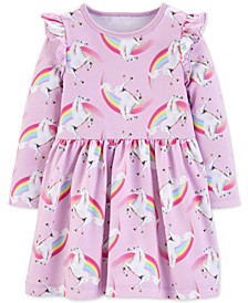 Toddler Girls Unicorn-Print Cotton Dress