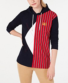 Colorblocked Embroidered Hoodie, Created for Macy's