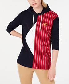 Tommy Hilfiger Colorblocked Embroidered Hoodie, Created for Macy's