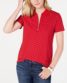 Tommy Hilfiger Floral-Print Polo Shirt, Created for Macy's