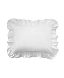 Ruffled Poplin Pillow Standard Sham