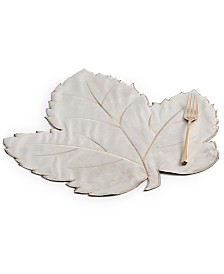 Elrene Swaying Leaves Tan Velvet Placemat