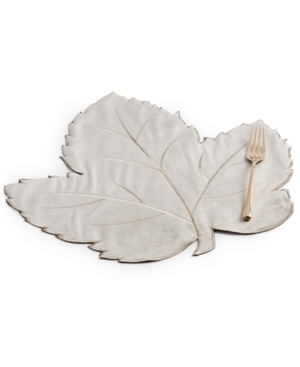 Swaying Leaves Tan Velvet Placemat