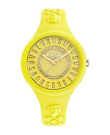 Versus Versace Tokyo Unisex Neon Silicone Strap Watch 39mm