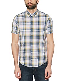 Men's Dobby Plaid Shirt