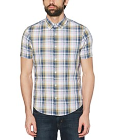 Original Penguin Men's Dobby Plaid Shirt