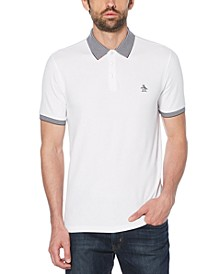 Men's Fashion Collar Piqué Polo Shirt