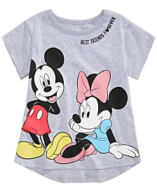 Disney Little Girls Mickey & Minnie Mouse Friends Forever T-Shirt