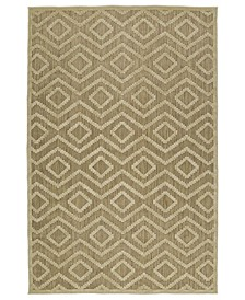 "A Breath of Fresh Air FSR01-105 Khaki 3'10"" x 5'8"" Area Rug"