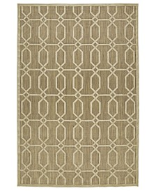 "A Breath of Fresh Air FSR02-105 Khaki 7'10"" x 10'8"" Area Rug"