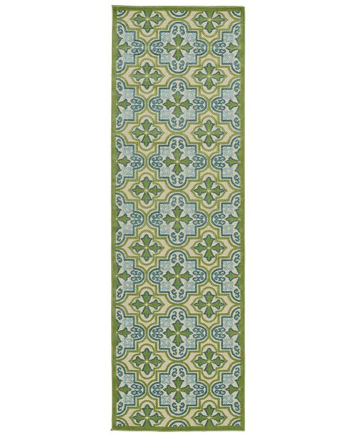 "Kaleen A Breath of Fresh Air FSR104-50 Green 2'6"" x 7'10"" Runner Rug"