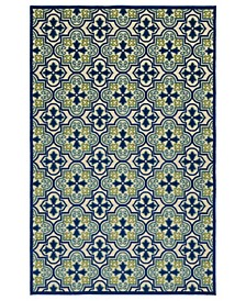 "A Breath of Fresh Air FSR104-17 Blue 2'1"" x 4' Area Rug"