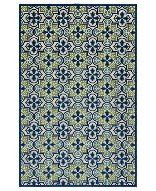 "Kaleen A Breath of Fresh Air FSR104-17 Blue 2'1"" x 4' Area Rug"