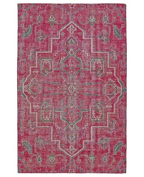 "Kaleen Relic RLC01-92 Pink 5'6"" x 8'6"" Area Rug"
