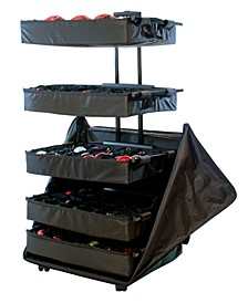 5 Tray Adjustable Telescoping Ornament Storage Bag