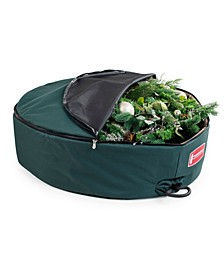 """30"""" Wreath Storage Bag with Removable Handle - Foam Lined"""