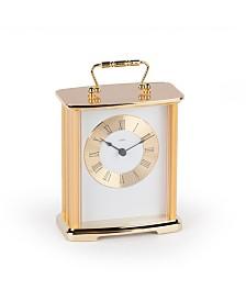 Stilnovo Anniversary Roman Numeral Brass Desk Carriage Clock