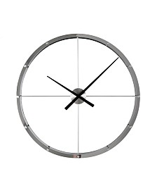 Stilnovo Giant Aluminum Steel Wall Clock