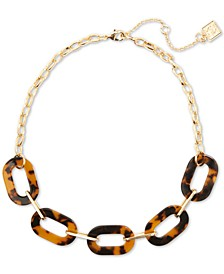 """Gold-Tone Tortoise-Look Link Collar Necklace, 17-1/2"""" + 3"""" extender"""