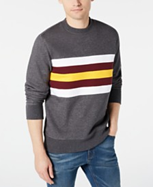 DKNY Men's French Terry Colorblock Sweater