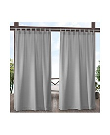 "Indoor/Outdoor Solid Cabana Tab Top Curtain Panel Pair, 54"" x 96"""