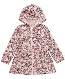 Little Girls Leopard-Print Hooded Jacket