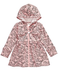 Hello Kitty Little Girls Leopard-Print Hooded Jacket