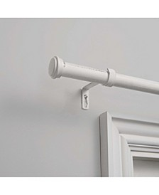 "Topper 1"" Curtain Rod and Coordinating Finial Set"