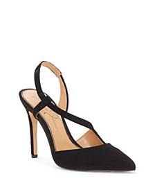 Paselle Pointy Toe Asymmetric Pumps