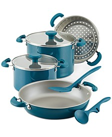 Create Delicious Stackable Nonstick 8-Pc. Cookware Set