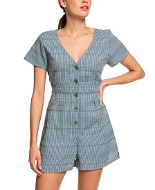 Roxy Juniors' Striped Romper