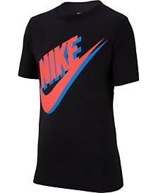 Nike Big Boys Large Futura Logo Graphic T-Shirt