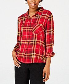 Juniors' Plaid Shirt