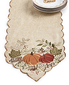 "Elrene Harvest Wreath 72"" Table Runner"