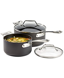Essentials Nonstick Set of 2 Covered Saucepans
