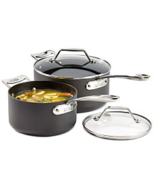 All-Clad Essentials Nonstick Set of 2 Covered Saucepans