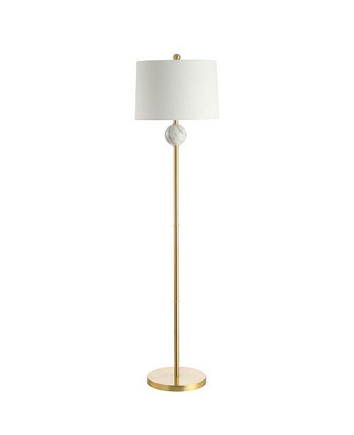 "JONATHAN Y Vaughn 60"" Modern Metal/Resin LED Floor Lamp"