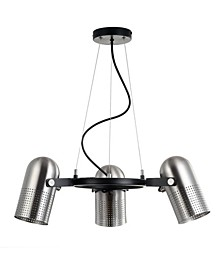 "Loki 22"" 3-Light Adjustable Metal LED Pendant"