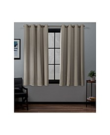"Academy Total Blackout Grommet Top 52"" X 63"" Curtain Panel Pair"