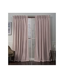 "Velvet Heavyweight Pinch Pleat Top Curtain Panel Pair, 27"" x 84"""