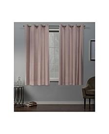 "Velvet Heavyweight Grommet Top Curtain Panel Pair, 54"" x 63"""