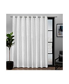 "Forest Hill Patio Woven Blackout Grommet Top 108"" X 84"" Single Curtain Panel"