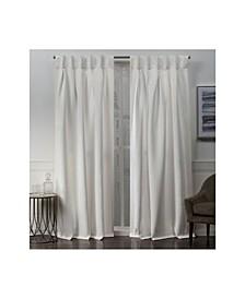Sateen Woven Blackout Button Top Window Curtain Panel Pair
