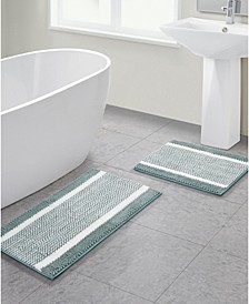 Heathered Stripe Noodle 2-Pc. Bath Rug Set