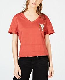 Juniors' Skull T-Shirt