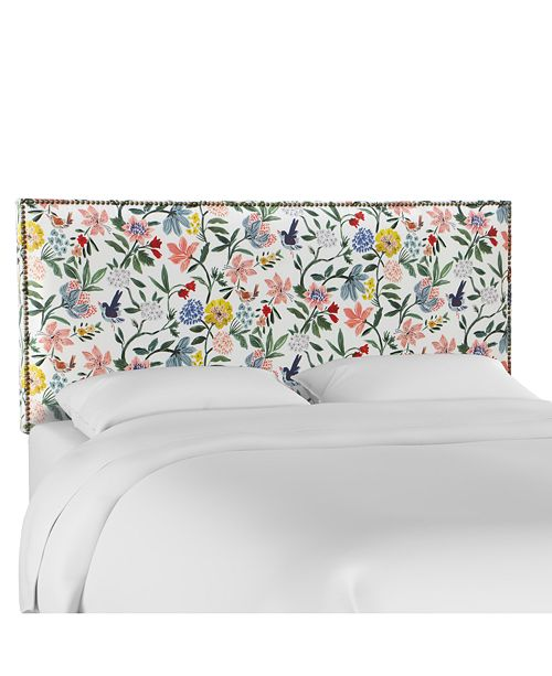 Skyline Paiton Full Nail Button Border Headboard